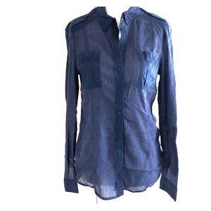 Anthroplogie by Edme & Esyllte sheer collar shirt